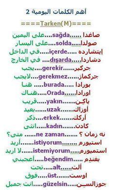 أهم الكلمات اليومية بالتركية Learn Turkish Language, Arabic Language, Learning Arabic, Learning Spanish, Arabic Words, Arabic Quotes, Turkish Lessons, English Language Course, School