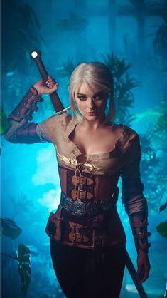 Witcher 3 Art, Ciri Witcher, The Witcher Game, The Witcher Wild Hunt, Dark Fantasy Art, Fantasy Girl, Fantasy Artwork, Dark Art, Warrior Girl