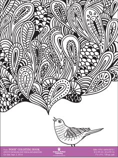 Coloring Books... for Adults! Downloadable sample pages are available here.