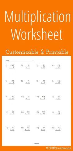 math worksheet : worksheets ranges and math on pinterest : Custom Multiplication Worksheets