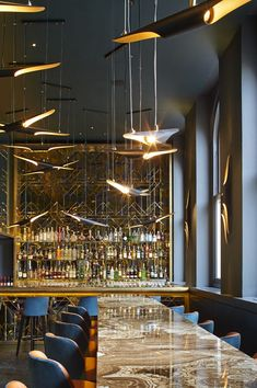 Discover the best furniture selection for restaurant decor inspiration for your next interior design project here. For more visit luxxu.net