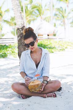 Caribbean Coconut - Collage Vintage