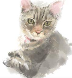 Customized pet portrait from photo digital printable 8x11