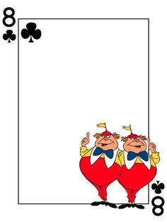 Tarjeta Diario - Tweedledum y Tweedledee - Alicia en el país de las maravillas - Naipe - 3x4 foto dis_571_TweedleDum_TweedleDee_playingcard_3x4.jpg