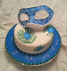 Peacock Mask Cake - october 2013