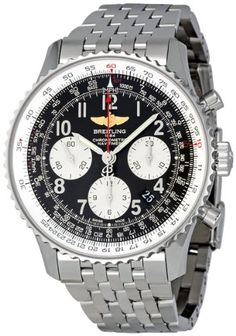 Breitling Mens AB012012/BB02SS Black Dial Navitimer 01 Watch: Watches: $6,948.93
