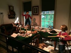 Replicated office of Abraham Lincoln working in downtown Springfield, Illinois