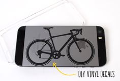 use your vinyl scraps to create custom decals for cell phones