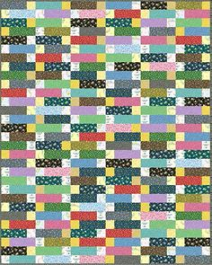 Little House on the Prairie - Chimney Bricks Free Quilt Pattern