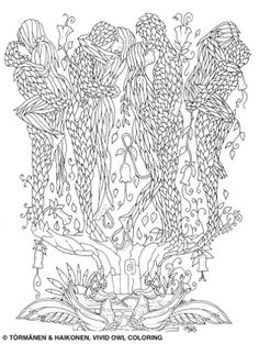 Secrets Beneath the Leaves Adult Coloring, Coloring Books, Owl, Leaves, Kisses, Pictures, Adult Colouring In, Vintage Coloring Books, Photos