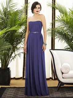 Dessy 2886 Bridesmaid Dress Strapless Sequin Waist Pleated Skirt