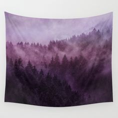 , Excuse me, I'm lost // Laid Back Edit Wall Tapestry by tekay , Beautiful Purple Hues forest: Excuse me, I'm lost // Laid Back Edit Wall Tapestry bedroom decor by Tordis Kayma Purple Dorm Rooms, Purple Walls, Purple Hues, Purple Wall Decor, Magenta, Tapestry Bedroom, Tapestry Wall Hanging, Baby Room Decor, Home Decor Bedroom