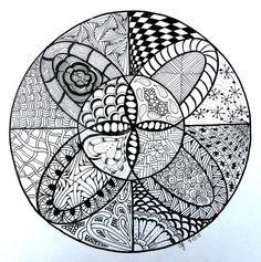 Zentangle-inspired Artwork  - by the developer of the Archer Pattern (Christianne Gerstner)