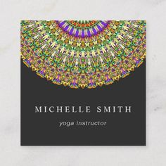 Get customizable Mandala business cards or make your own from scratch! ✅ Premium cards printed on a variety of high quality paper types. Print Templates, Card Templates, Beauty Business Cards, Print Design, Graphic Design, Mandala Design, Business Card Design, Colorful, Floral
