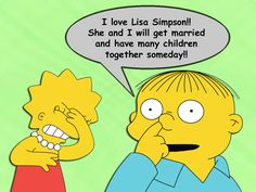 The Simpsons Lisa and Ralph