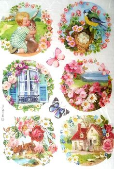 Rice Paper for Decoupage, Scrapbooking, Sheet Craft Floral 1/3