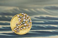 beautiful pearl brooch by lilly fitzgerald.