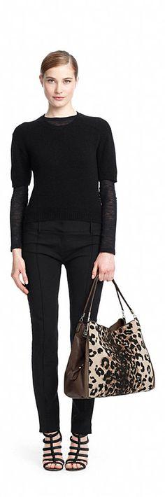 Coach Madison Phoebe Shoulder Bag In Ocelot Print Fabric 98