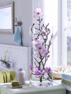 Silindir cam vazo içinde bahar dalları dekoratif 64.90 TL karg ücretsiz