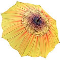 Galleria Sunflower Kiss Umbrella http://www.hellobrolly.co.uk/flower-umbrellas/galleria-sunflower-kiss-umbrella