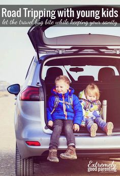 """Expert advice on how to road trip with young kids in tow. A guest post from Meegs at """"A New Day"""""""