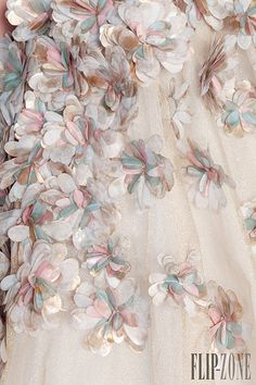 """Detail """"Hanging Gardens Collection"""" Haute Couture by Rami Kadi c.a. 2013,  Medium: hand embroidery, tulle"""