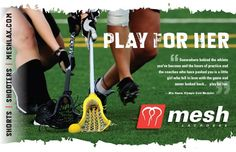 Mesh Lacrosse ad for Moorestown Girls High School book.