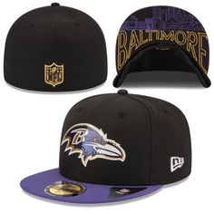 Youth Baltimore Ravens New Era Black Purple 2015 NFL Draft On-Stage 59FIFTY  Fitted Hat b1b5c2cb3