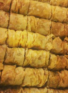 Cinnamon Baklava Rolls | Cleobuttera Baklava Dessert, Baklava Recipe, Phyllo Dough, Greek Recipes, Cinnamon Rolls, Food Videos, Deserts, Dessert Recipes, Spices