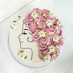 Kuchen für ein Mädchen - Diseños de tortas - # Diseños # for . Cake Decorating Designs, Creative Cake Decorating, Birthday Cake Decorating, Cake Decorating Techniques, Creative Cakes, Decorating Ideas, Cake Designs For Kids, Pretty Cakes, Beautiful Cakes