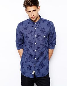 Jack Wills Albany in Chambray with Floral Print