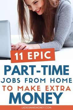 Looking for lucrative side jobs to make extra money? Great! Check out these 11 part time jobs that can pay you more than your regular job. This list of work from home jobs are high paying and perfect for you if you're a stay at home mom looking to make extra cash. No Experience Necessary! #workfromhome #workfromhomejobs #makemoneyonline #makemoneyfromhome #makemoneyathome #legitjobs #legitimateworkfromhomejobs Earn Money From Home, Make Money Fast, Make Money Blogging, Make Money Online, Money Tips, Earn Extra Cash, Making Extra Cash, Extra Money, Working Mom Tips