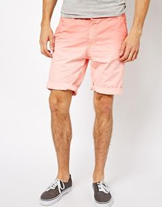 River Island Chino Shorts with Dip Dye Wash