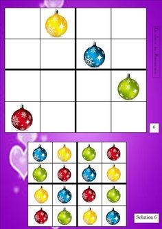 Sudoku de Noël - La classe de Mamaicress Kindergarten Math Worksheets, Preschool Education, Card Games For Kids, Puzzles For Kids, Sudoku Puzzles, Theme Noel, Montessori Activities, Noel Christmas, Kids Playing