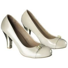 Women's Mossimo® Naomi Metallic Heel Pump in Nude/Gold, Clearance for $14.98 at Target