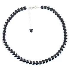 HEMATITE HEART NECKLACE    Hematite and sterling silver earrings.    Love hearts that work well with any outfit.  ...  Colour: Grey/Black    Size: 42.5cm    £47.50    http://www.gemjewelleryshop.com/product-information/36/423/hematite-heart-necklace/See More