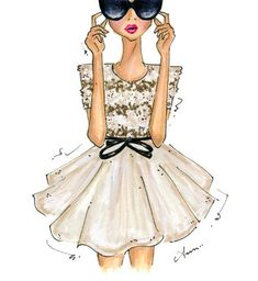 Fashion Illustration Print Jason Wu Spring 2012 van anumt op Etsy, $25.00 // Anum Tariq
