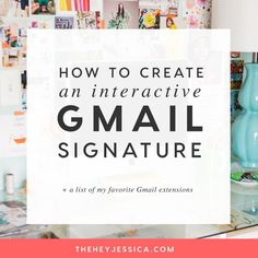 Every business owner needs to have an interactive email signature to help grow their business. I'm showing you a super simple way to create a custom email signature in gmail!