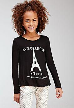 Rhinestone Eiffel Tower Tee (Kids) | Forever 21 girls - 2000096972
