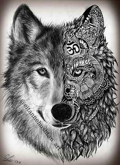 Stunning Wolf Tattoo design - I want Tattoo Tattoos Lobo, Wolf Tattoos Men, Tatuajes Tattoos, Bild Tattoos, Animal Tattoos, Tattoos For Women, Female Tattoos, Army Tattoos, Tatoo Henna