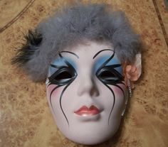 Beautiful Mardi Gras Ceramic Wall Mask New by NanasVintageShop, $19.95
