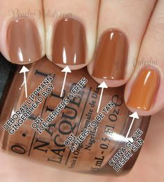 OPI Ice-Bergers & Fries Comparison | Peachy Polish
