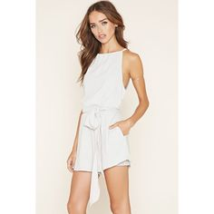 Forever 21 Women's  The Fifth Label Cutout Romper ($88) ❤ liked on Polyvore featuring jumpsuits, rompers, white romper, cut out romper, white rompers, halter-neck tops and forever 21 rompers