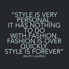 Ralph Lauren Style Quote