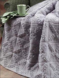 Crochet - Roll Stitch Turkey Tracks Afghan - #ESC0047