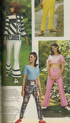 Womens Fashion of the 60s.  I had those madras patchwork pants!!!