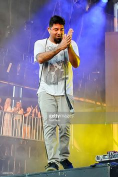 Chino Moreno of Deftones performs in concert at Austin360 Amphitheater on August 17, 2015 in Austin, Texas.