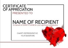 A Modern Art Heart certificate of appreciation which can be customized to suit needs of recipient by clicking on template! Attendance Certificate, Birth Certificate, Gift Certificates, Certificate Of Completion Template, Gift Certificate Template, Make Your Own Certificate, Certificate Of Appreciation, Customized Gifts