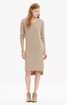 Side-Slit Sweater-Dress