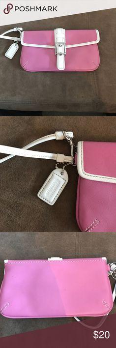 Coach wristlet Coach wristlet. Snap closure. Never used Coach Bags Clutches & Wristlets